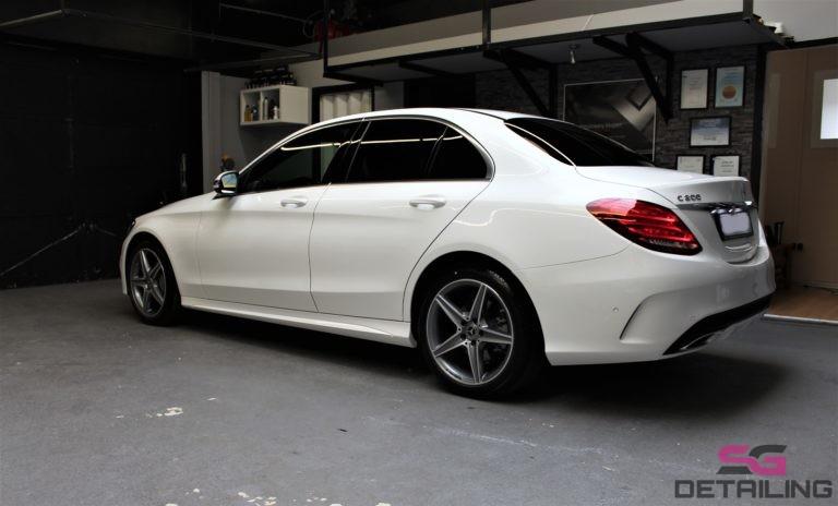 Mercedes C 200 aplikacja powłoki ceramicznej