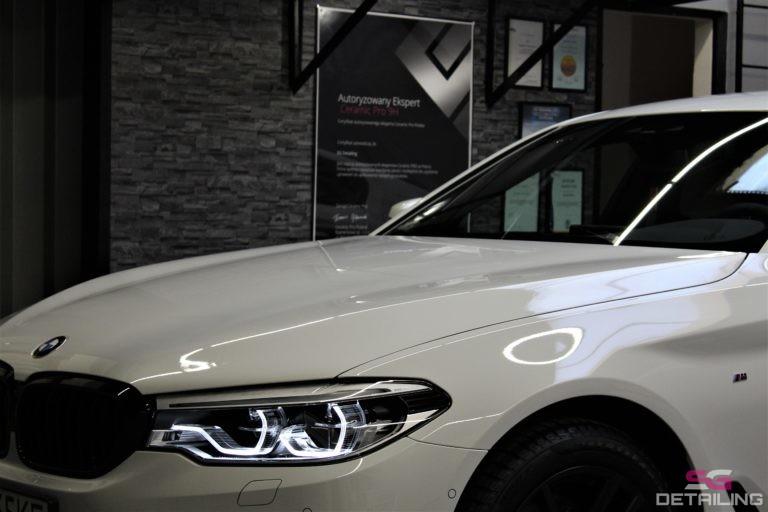 BMW 5 G30 biały powłoka ceramiczna szczecin