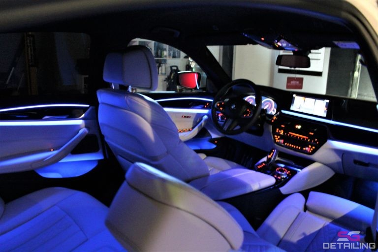BMW 5 G30 biały środek skóry powłoka ceramiczna szczecin