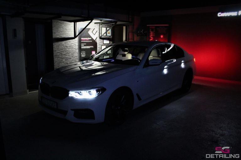 BMW 5 G30 oświetlenie powłoka ceramiczna szczecin