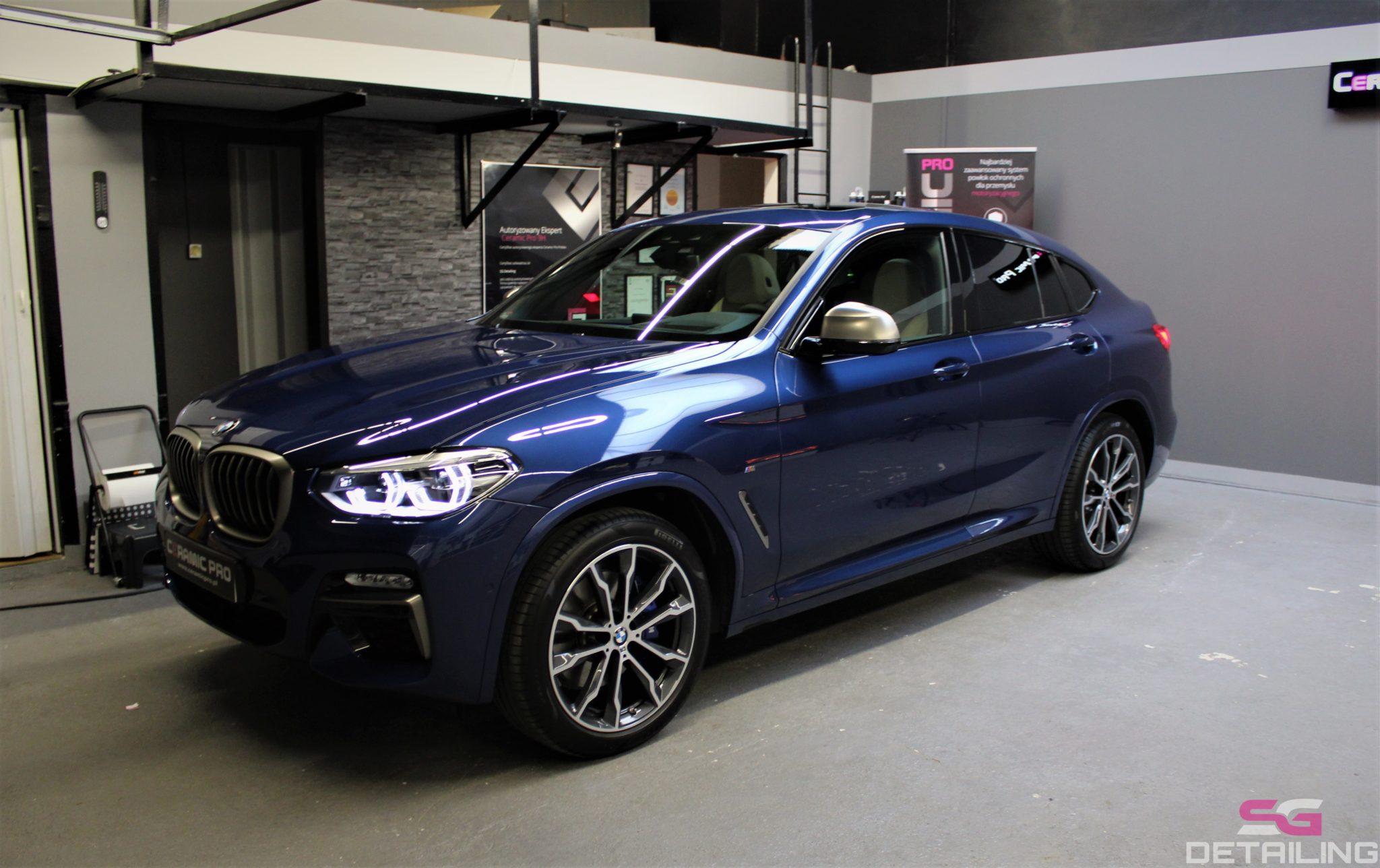 BMW X4 m40i niebieski powłoka ceramiczna szczecin