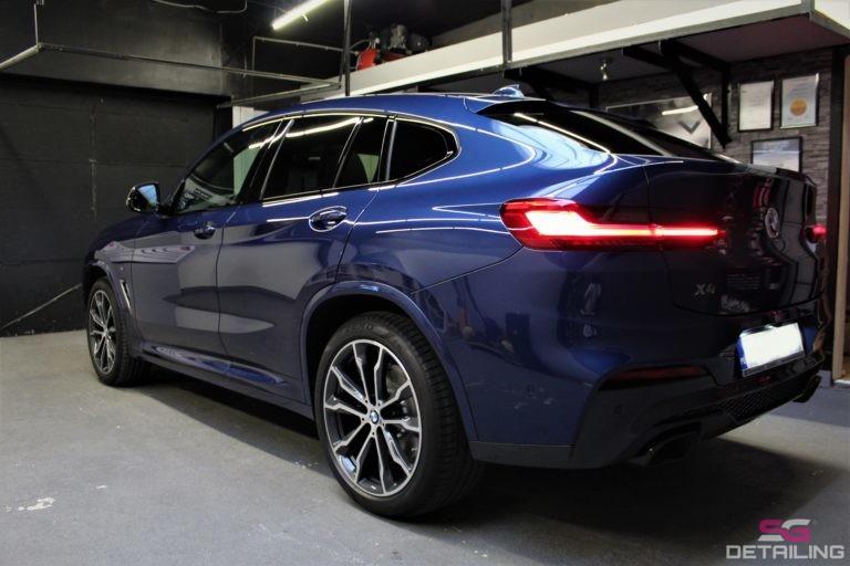 BMW X4 m40i niebieski car detailing szczecin