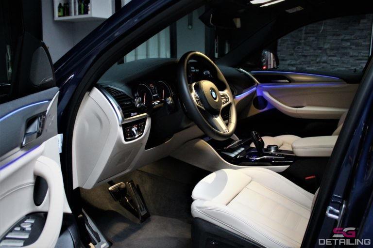 BMW X4 m40i niebieski powłoka ceramiczna środek skórzane fotele