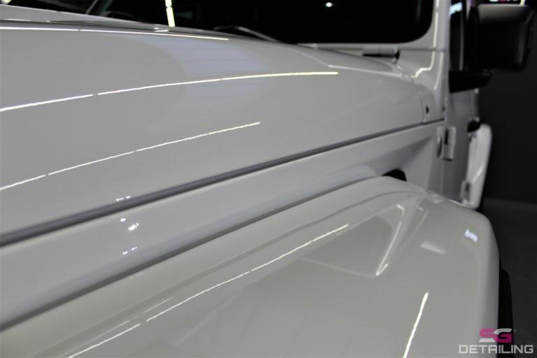 Jeep Wrangler Unlimited biały auto detailing szczecin